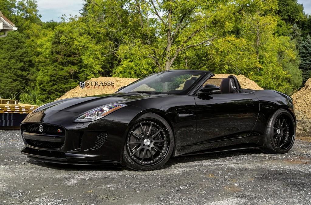 jaguar f type s tastefully modified coupe strasse wheelsstrasse wheels high performance. Black Bedroom Furniture Sets. Home Design Ideas