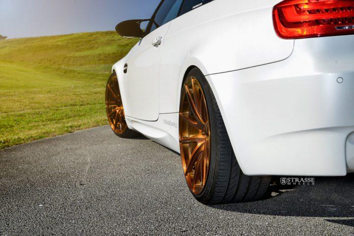 Strasse Wheels - Mineral White BMW E92 M3 - SV5 Deep Concave Monoblock 12