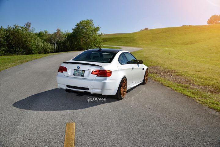 Strasse Wheels - Mineral White BMW E92 M3 - SV5 Deep Concave Monoblock 14
