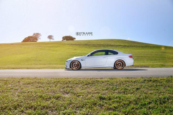 Strasse Wheels - Mineral White BMW E92 M3 - SV5 Deep Concave Monoblock 17