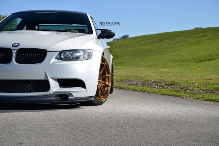 Strasse Wheels - Mineral White BMW E92 M3 - SV5 Deep Concave Monoblock 3