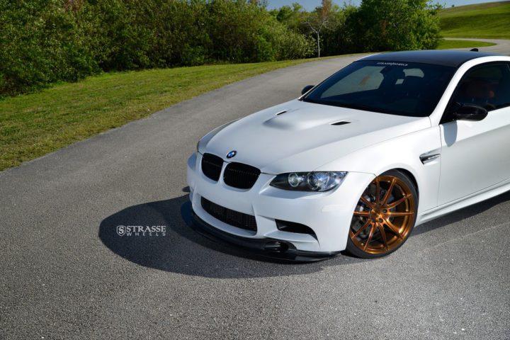 Strasse Wheels - Mineral White BMW E92 M3 - SV5 Deep Concave Monoblock 7