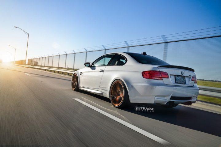 Strasse Wheels - Mineral White BMW E92 M3 - SV5 Deep Concave Monoblock 9