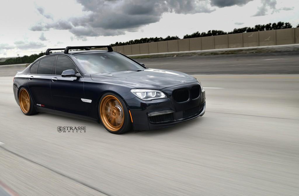 "Strasse Wheels - BMW F01 750 - Gloss Brushed Bronze 21"" SV1 Deep Concave FS Wheels 2"