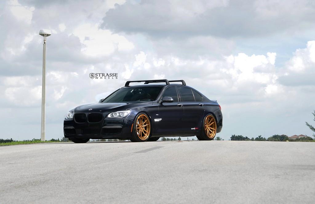 "Strasse Wheels - BMW F01 750 - Gloss Brushed Bronze 21"" SV1 Deep Concave FS Wheels 3"