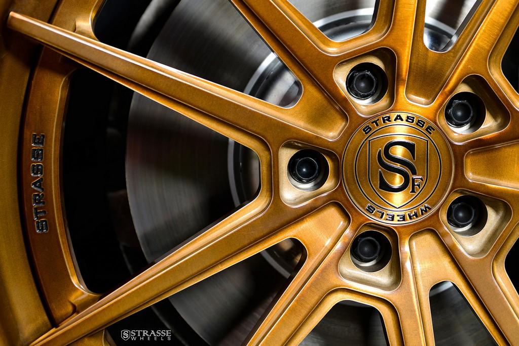 "Strasse Wheels - BMW F01 750 - Gloss Brushed Bronze 21"" SV1 Deep Concave FS Wheels 5"