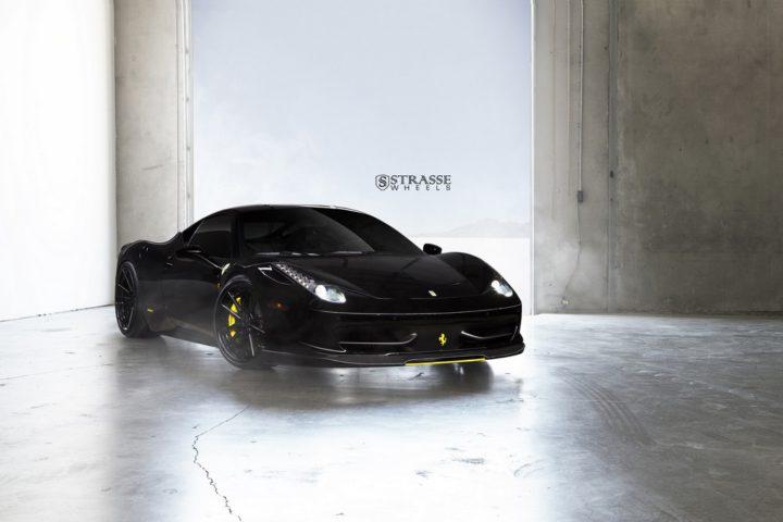 Strasse Wheels Ferrari 458 Italia Black SV1 1