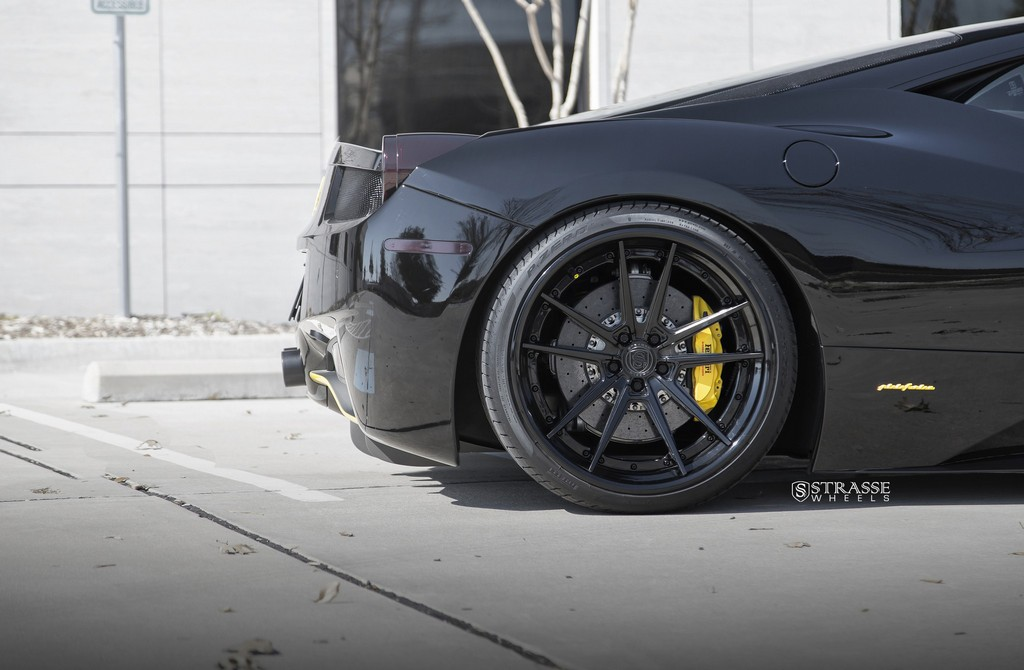 Strasse Wheels Ferrari 458 Italia Black SV1 8