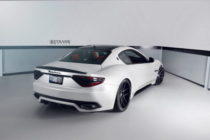 Strasse Wheels Matte White Maserati Gran Turismo 12