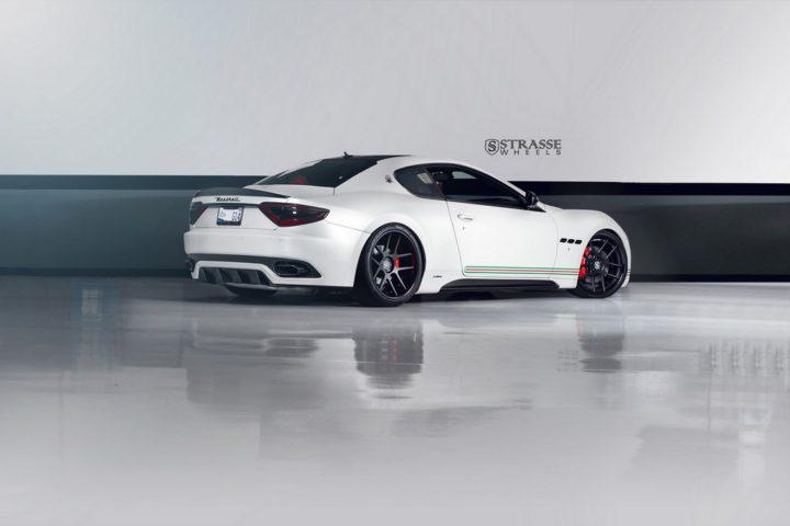 Strasse Wheels Matte White Maserati Gran Turismo 1215