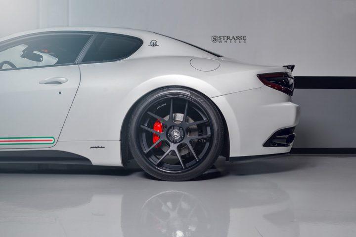 Strasse Wheels Matte White Maserati Gran Turismo 13