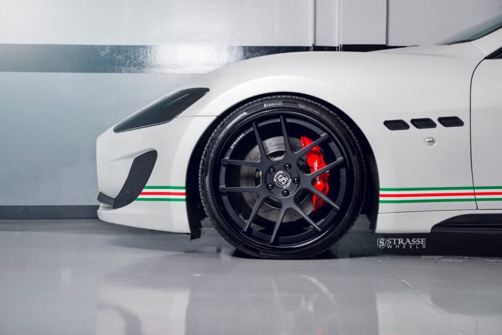 Strasse Wheels Matte White Maserati Gran Turismo 3