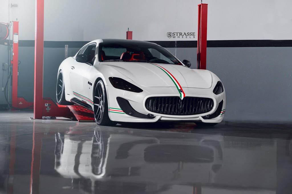 Strasse Wheels Matte White Maserati Gran Turismo 4