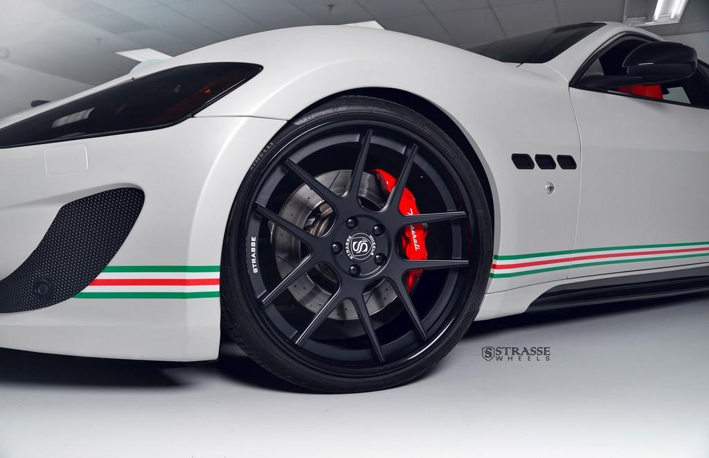 Strasse Wheels Matte White Maserati Gran Turismo 8
