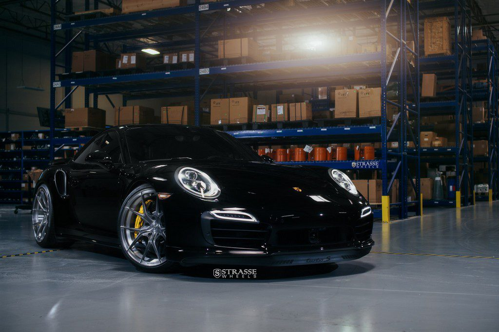 "Strasse Wheels - Porsche 991 Turbo S - 21"" SM5R Deep Concave Monoblocks - Gloss Brushed Titanium 2"