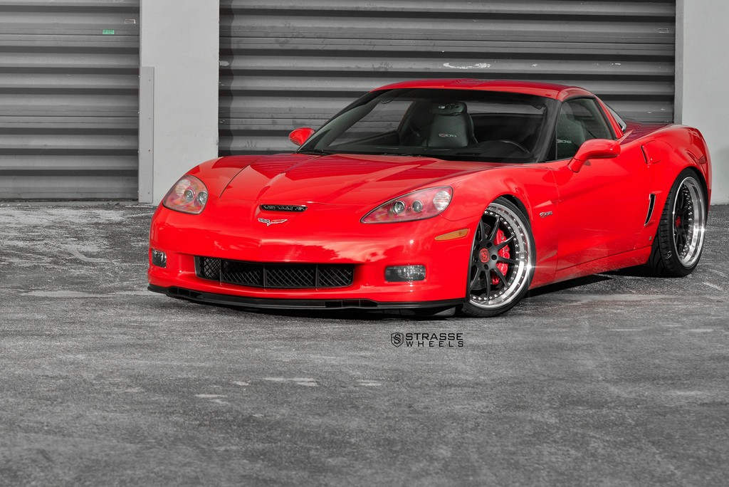 Strasse Wheels Red C6 Z06 R10 1