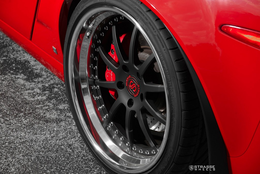 Strasse Wheels Red C6 Z06 R10 13