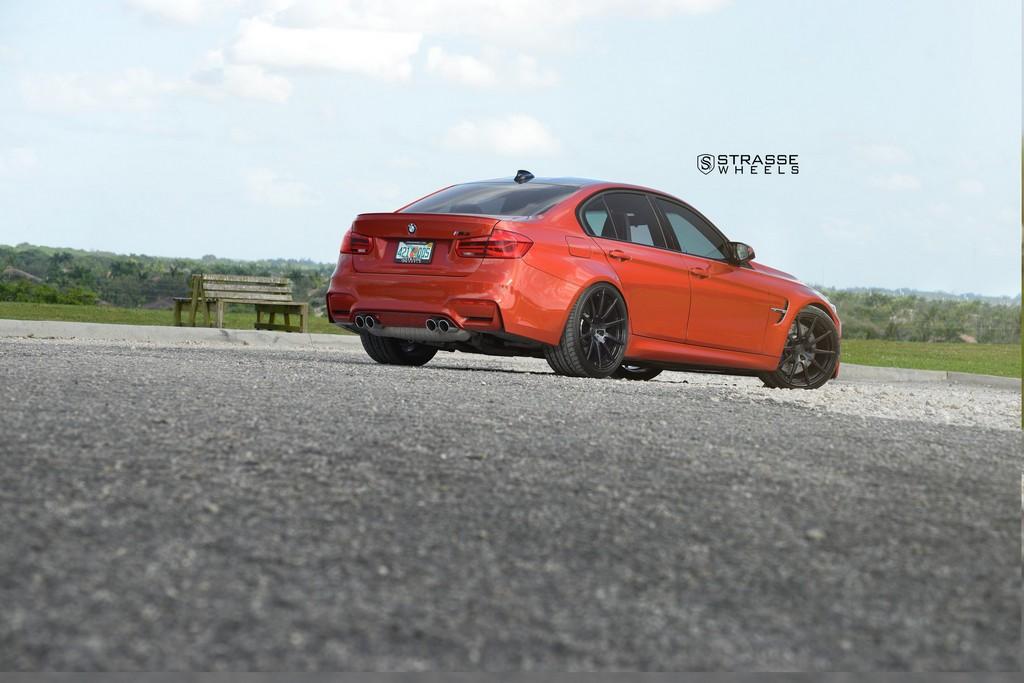Strasse Wheels Sakhir Orange BMW M3 14
