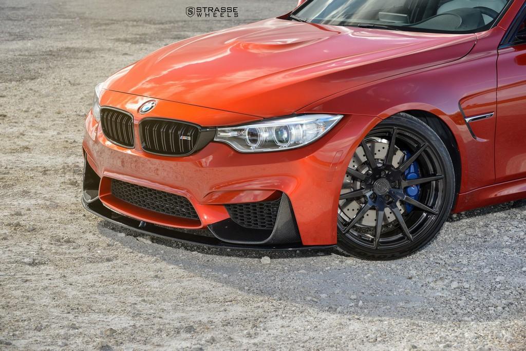 Strasse Wheels Sakhir Orange BMW M3 4
