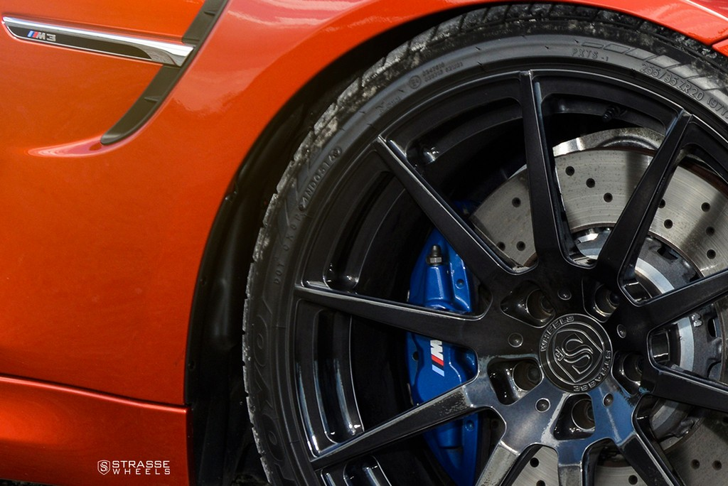 Strasse Wheels Sakhir Orange BMW M3 5